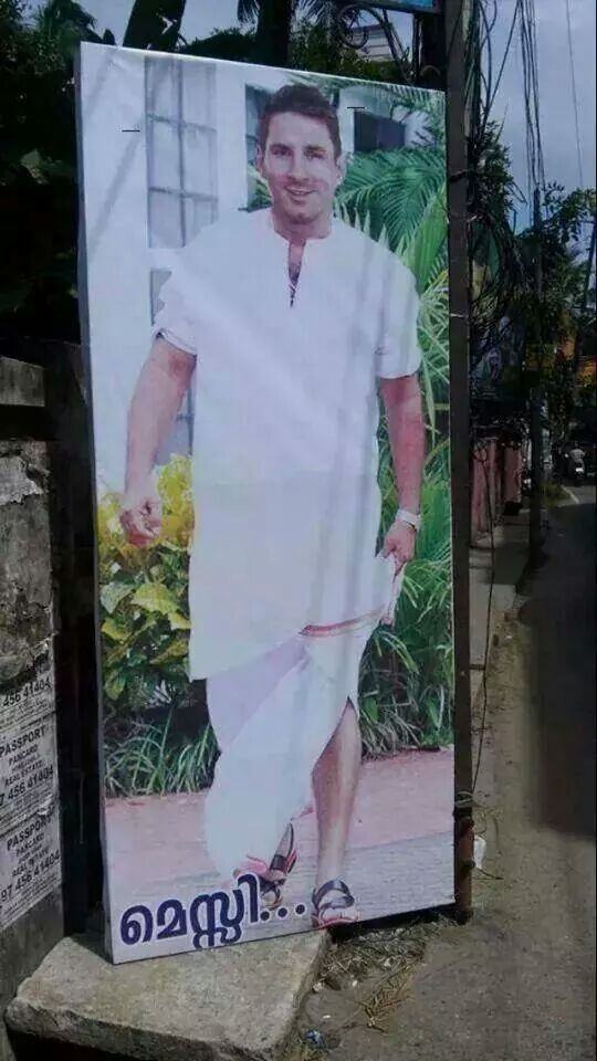 Only in Kerala : Machcha Messi