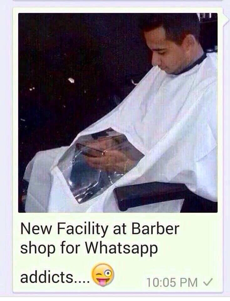 ... at your local salon - Whatsapp Forwards, Jokes, Riddles and Puzzles