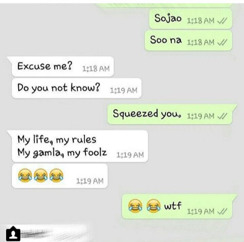 my life my rules   whatsapp forwards jokes riddles and puzzles